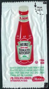A Heinz Ketchup Package