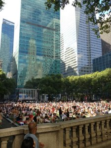 A typical NYC Saturday - random free concert in Bryant Park.