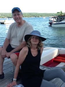 My dad and Melissa at Keuka Lake.