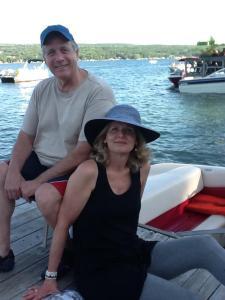My dad and Melissa at Keuka Lake.